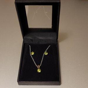 Jewelry - Birthstone August Peridot Set: Earrings & Necklace